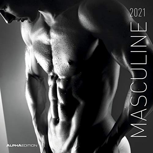 Masculine 2021 - Broschürenkalender 30x30 cm (30x60 geöffnet) - Maskulin - Bild-Kalender - Erotikkalender -...