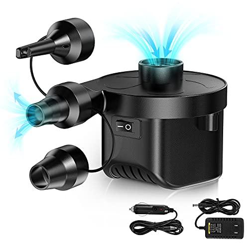Karvipark Elektrische Luftpumpe, Elektrische Pumpe Automatische 2 in 1 Schnellbefüllbarer Deflate Power Pump...