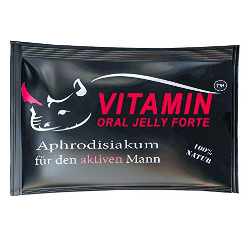 VITAMIN PREMIUM Oral Jelly Natürliches Gel   Für aktive Männer   8 Stück   Testosteronspiegel, Libido...