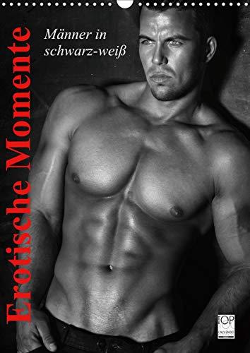 Erotische Momente. Männer in schwarz-weiß (Wandkalender 2021 DIN A3 hoch)