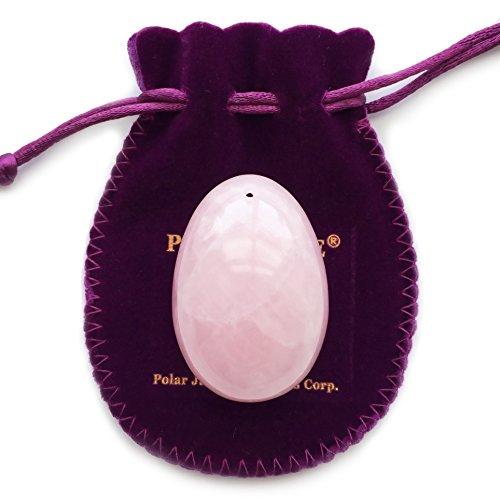 Rosenquarz yoni ei, gebohrt, groß, mit zertifikat und anleitung, pink love stein, für Frauen...