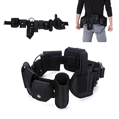 YAHILL® Polizei Security Taktischer Gürtel Militär Koppel Combat Tactical Police Belt Gear Nylon Heavy...