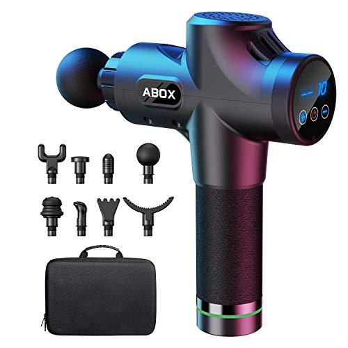 ABOX Massagepistole für Nacken Schulter Rücken Massage Gun Massagegerät Elektrisch Entspannen mit 8...
