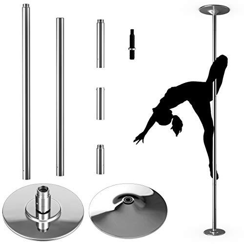 COSTWAY Profi Tanzstange | 45 mm Pole Dance Stange | Strip Stange static & spinning | Pole Dance Stange...