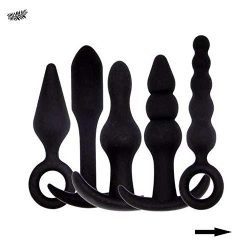 Handheld schwarzen medizinischen Silikonstecker, glückliches Paar Spielzeug (5PCS)
