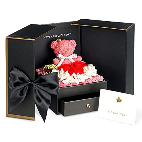TRIPLE K Geschenkbox mit Rosen - Infinity Rosen - Geburtstag, Valentinstag, Hochzeitstag - 3 Jahre haltbar -...