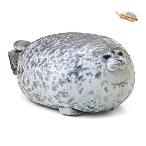 Creamon Meerestier Kissen, Meerestier Kissen Blob Seal Kissen süße Dichtung Stofftier Baumwolle Plüschtier...