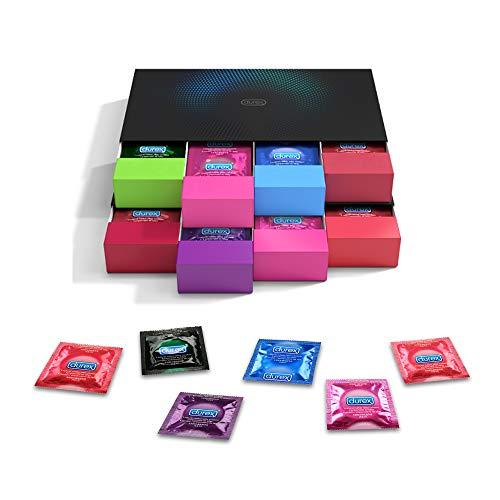 Durex Kondom Geschenkset in stylischen Boxen - Aufregende Vielfalt, praktisch & diskret verpackt - Verhütung,...