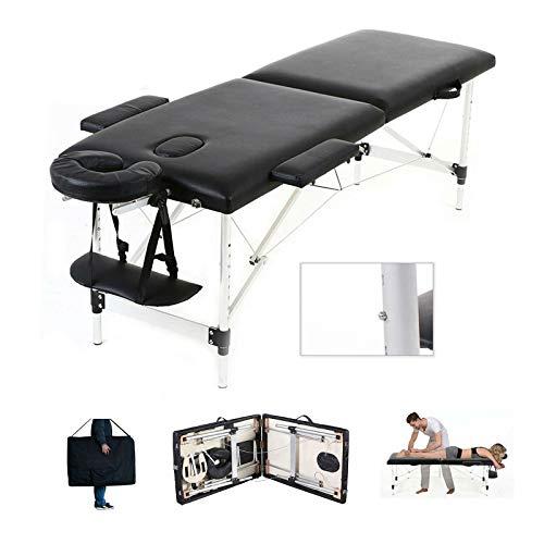 Mobile Massagebank Massageliege Massagetisch Klappbar Massagebett mit 2 Zonen höhenverstellbaren...