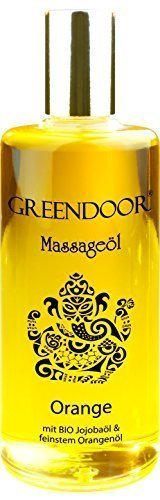 PREISAKTION - Greendoor Massageöl Orange 100ml natürlich rein, BIO Jojobaöl und natur-reines Orangen-Öl,...