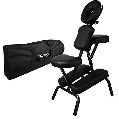 Naipo Massagestuhl Tattoostuhl Massagestühle zusammenklappbarer transportabler inkl. Tasche belastbar bis 300...