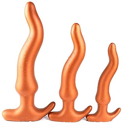 Gold/Schwarz S M L Super Weiches Und Sicheres Silikon Analplugs Anal Spielzeuge Für Männer Frauen