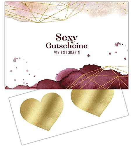 FRUITPRINTS CherryCards Gutscheinheft 10 Sex Gutscheine zum Personalisieren und Freirubbeln - Erotisches...