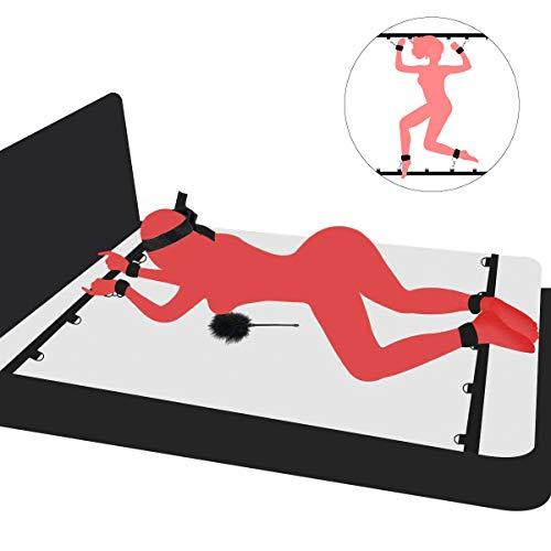 PALOQUETH BDSM Sex Bondage Sexspielzeug fr Paare, Fessel-Set zur Befestigung am Bett mit Handschellen...