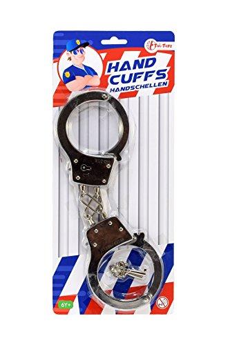 Toi-Toys Handschellen, Metall, Partyzubehör, 14700 A, mehrfarbig