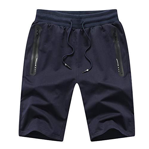 JustSun Kurze Hosen Herren Shorts Sommer Kurze Hose Jogginghose Kurz Gym Sweat Sport Fitness Shorts Herren...