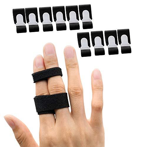 Sumifun 10x Trigger Finger Schiene, buddy loops, fingerbandage für kleiner finger, mittelfinger, ringfinger,...