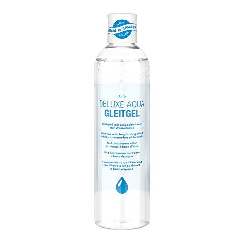 Gleitgel von EIS, Deluxe Aqua Gleitmittel auf Wasserbasis, extra sensitives Intimgel, neutral, 300 ml