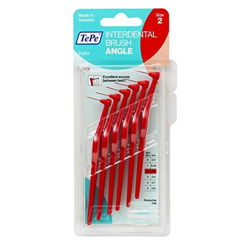 TePe Angle Interdentalbürsten Rot (ISO Größe 2: 0,5 mm) / Kontrollierte Reinigung der Zahnzwischenräume...