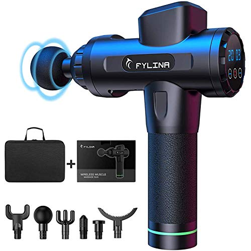 FYLINA Massagepistole, Massage Gun,Tiefen massagegerät mit 20 Geschwindigkeiten, LED-Anzeige-Touchscreen...