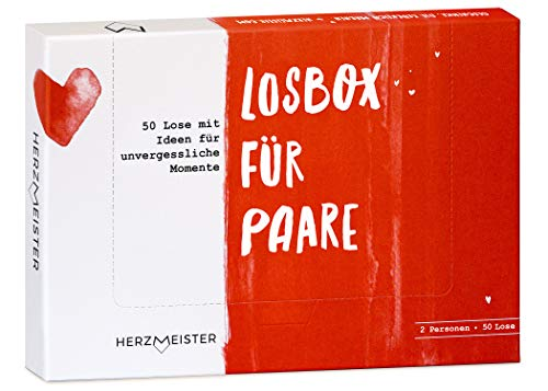 Herzmeister Losbox für Paare I Das Paar-Geschenk für 50 unvergessliche Momente I 50 Lose mit Ideen für...