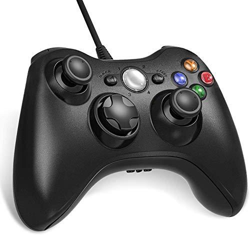 Lunriwis Xbox 360 Controller Wired Gamepad Kabel Joystick mit Dual-Vibration Turbo und Trigger-Tasten für...