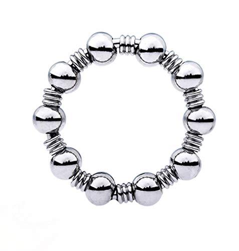 Edelstahl Hohe Qualität Intimer Schmuck Penis Ring, Verzögerung Ejakulation Hodenring Metall Perlen Cock...
