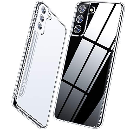 Vakoo Handyhülle für Samsung Galaxy S21 Hülle, Transparent Silikon Weiche Schutzhülle für Samaung S21...