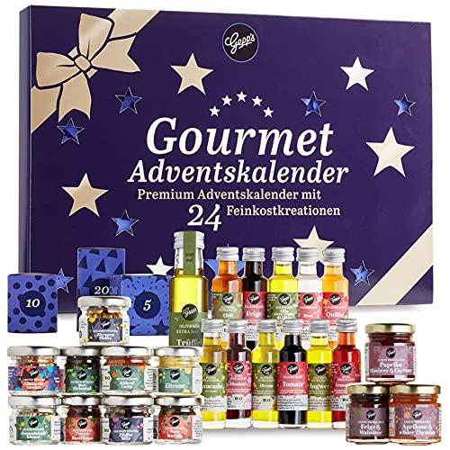 Gepp's Premium Adventskalender für Feinschmecker I 24 ausgefallene Gewürze, Dips & französische Konfitüren...