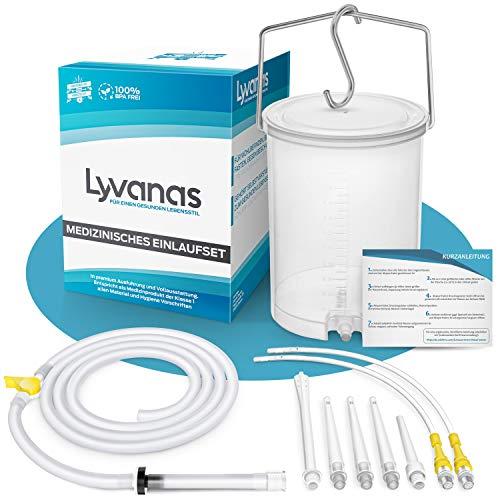 Lyvanas Einlaufset für Darmeinlauf (2 Liter) - einfach & angenehm - Irrigator zur Darmreinigung in...