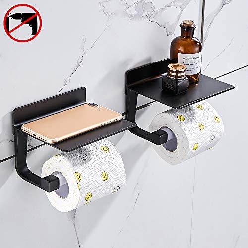 Hoomtaook Toilettenpapierhalter Ohne Bohren Selbstklebende Toilettenpapierhalter Ohne Bohren Space Aluminium,...