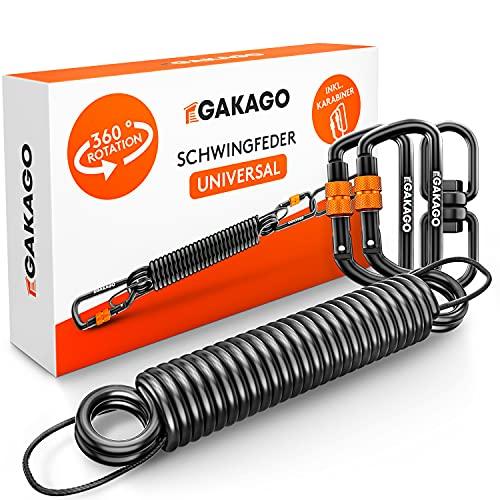 Gakago Schwingfeder für Hängesessel - Angenehmes Schwingen durch 360° Feder mit Drehwirbel - Extra sicheres...