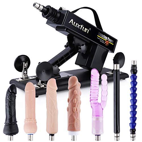 AUXFUN Sexmaschine mit 7 Aufsätzen, 3 XLR-Stecker Fickmaschine für Männer, Frauen und Paare,Geschwindigkeit...