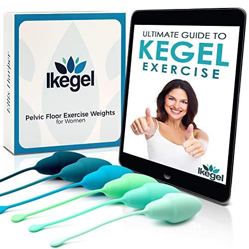 Ikegel Beckenbodentrainer für Frauen mit Deutscher Übungsanleitung als eBook, 6 Medizinisches Silikon...