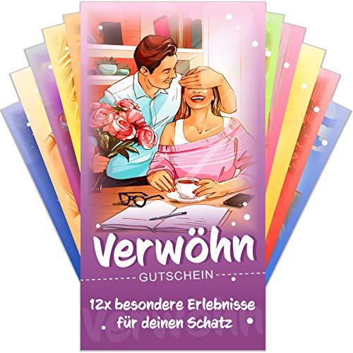 Verwöhngutscheine von VULAVA® + Gratis Online-Handbuch mit 100 Verwöhnideen – die Liebesgutscheine mit 12...