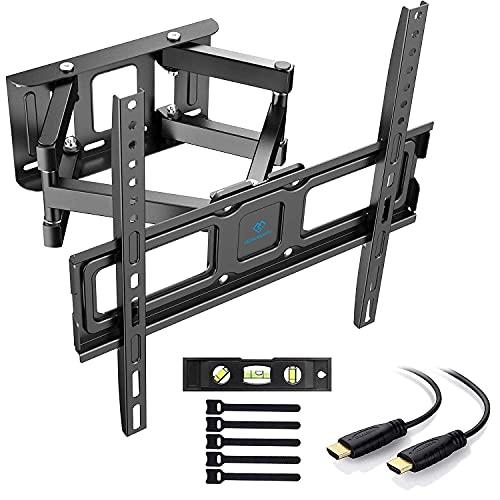 PERLESMITH TV Wandhalterung, Schwenkbare Neigbare TV Halterung für 32-55 Zoll Flach & Curved Fernseher oder...