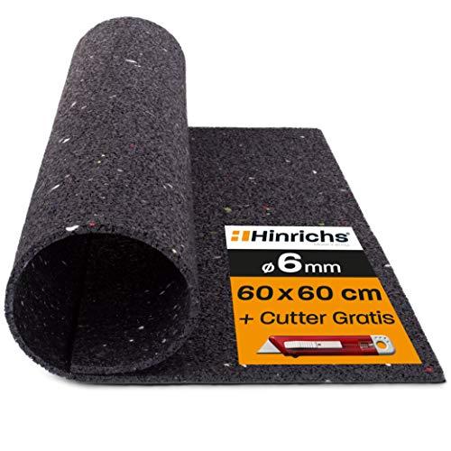 Hinrichs Antivibrationsmatte für Waschmaschinen - Gummimatte mit Poster - Zuschneidbare Dämmmmatte als...