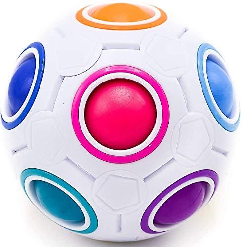 CUBIDI® Original Regenbogenball - Geschicklichkeitsspiel - Spannendes Knobelspiel für Kinder und Erwachsene...