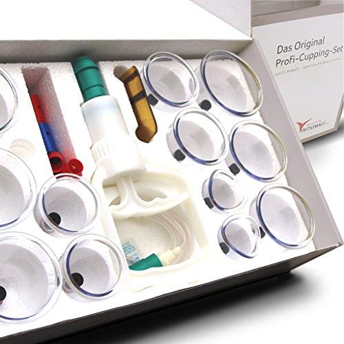 Profi Schröpfglas-Set - Schröpfgläser mit Vakuumpumpe - hochwertiges medizinisches Schröpfen mit...