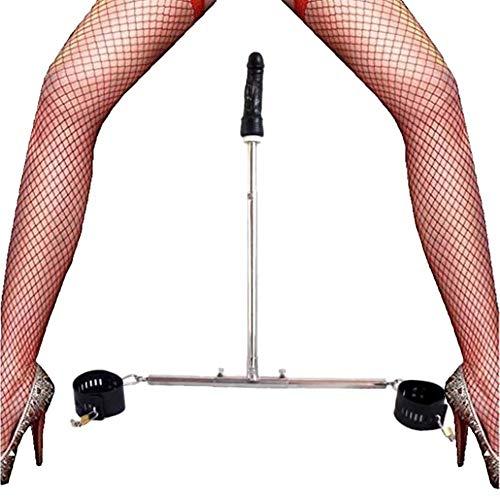 RWSX SM Bondage Set mit Spreader Bar Edelstahl, Fußfesseln und Dildo/Analdildo, Restraints System, Folter...