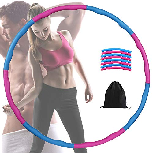 FeelGlad Hoola Hoop, Fitnesskreis Gewichtsverlust Schlankheits Kreis mit 8 Abnehmbare Abschnitte f ür...