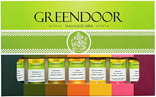 TESTER GREENDOOR Massageöl Set, Sortiment Minis, Geschenkkarton 100% Natur, 175ml natürliches bestes...