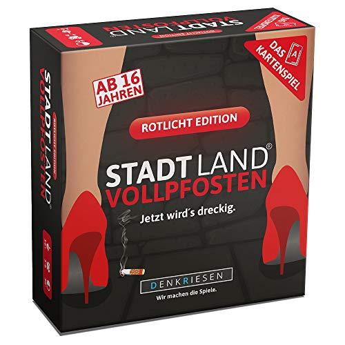 DENKRIESEN - Stadt Land VOLLPFOSTEN - Das Kartenspiel - Rotlicht Edition | Partyspiel | Wichtelgeschenk |...