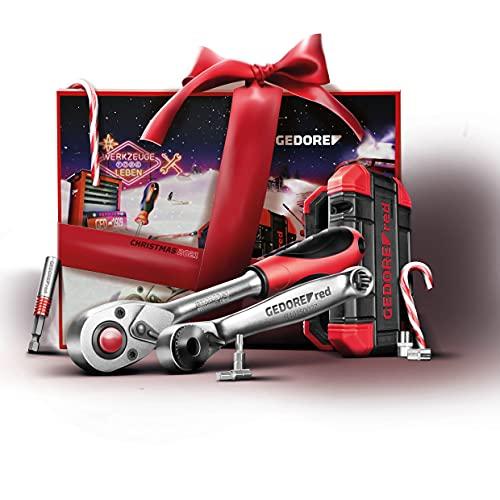 GEDORE 3304899 red R49002024 Adventskalender 2021, 34 teilig, Adventskalender für Männer, Männer Geschenk,...