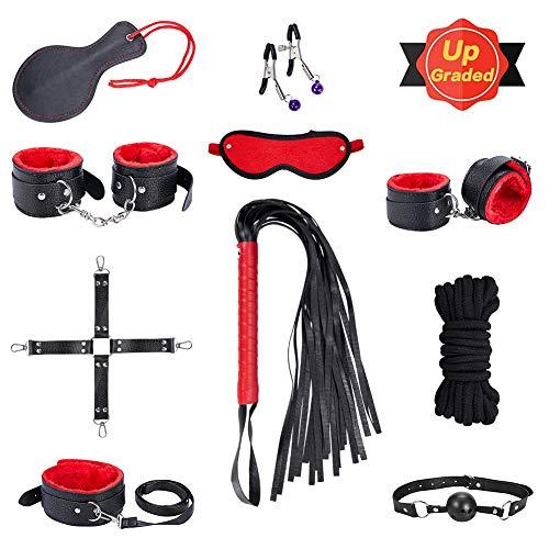 SM Bondage Set BDSM Fesselset SM Sexspielzeug Extrem Betten Fesseln mit Handschellen mit Augenmaske Erotik Fr...