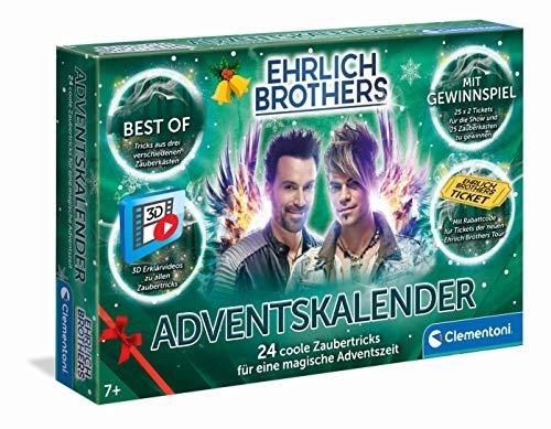 Clementoni 59180 Ehrlich Brothers Adventskalender der Magie 2021, magischer Weihnachtskalender mit 24...
