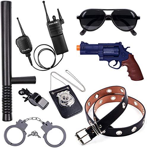 Tacobear Polizei Spielzeug Kinder Polizei Kostüm Zubehör Handschellen Polizei Polizeiabzeichen Sonnenbrille...