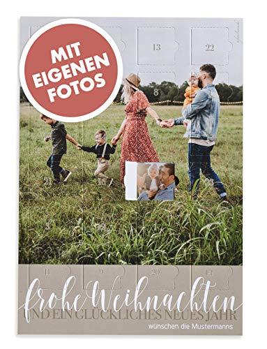 Familiensache Foto Adventskalender mit eigenen Fotos 2020 - zum Selbstgestalten - hochwertiges Papier 300gr/m2...