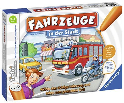 """Ravensburger tiptoi 00848 - """"Fahrzeuge in der Stadt"""" / Spiel von Ravensburger ab 3 Jahren / Wähle das..."""