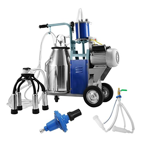 Buoqua Elektrisch Melkmaschine ziegen für Kühe und Ziegen 25L milking machine 1440RPM 0.55KW Melken Kühe...
